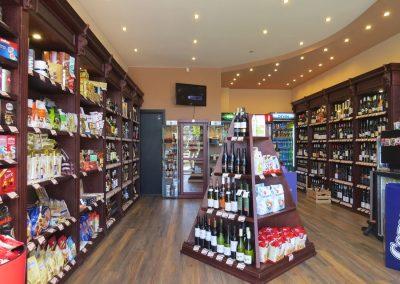 Интериор на магазин за алкохол и цигари